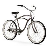 "Firmstrong Urban Man 26"" Three Speed Beach Cruiser Bicycle in Matte Grey"