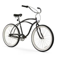 "Firmstrong Urban Man 26"" Three Speed Beach Cruiser Bicycle in Matte Black"