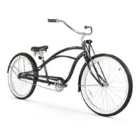 """Firmstrong Urban Man Deluxe 26"""" Single Speed Stretch Beach Cruiser Bicycle in Black"""