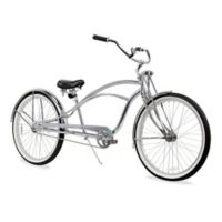 "Firmstrong Urban Man Deluxe 26"" Single Speed Stretch Beach Cruiser Bicycle in Chrome"