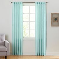 Coastal Waves 84-Inch Rod Pocket/Back Tab Window Curtain Panel in Seafoam