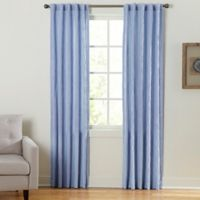 Coastal Waves 84-Inch Rod Pocket/Back Tab Window Curtain Panel in Blue
