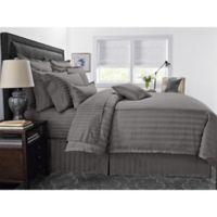 Wamsutta® 500-Thread-Count PimaCott® Damask Stripe Twin Comforter Set in Grey