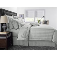 Wamsutta® 500-Thread-Count PimaCott® Damask Stripe King Comforter Set in Silver