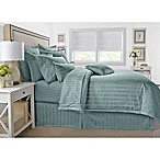 Wamsutta® 500-Thread-Count PimaCott® Damask Stripe King Comforter Set in Aqua