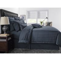 Wamsutta® 500-Thread-Count PimaCott® Damask Stripe Twin Comforter Set in Denim