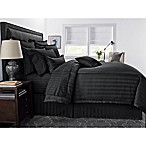 Wamsutta® 500-Thread-Count PimaCott® Damask Stripe Full/Queen Comforter Set in Black