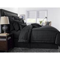 Wamsutta® 500-Thread-Count PimaCott® Damask Stripe Full/Queen Comforter Set in Black