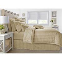 Wamsutta® 500-Thread-Count PimaCott® Damask Stripe Full/Queen Comforter Set in Taupe