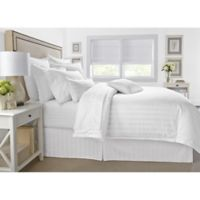 Wamsutta® 500-Thread-Count PimaCott® Damask Stripe King Comforter Set in White