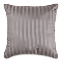 Wamsutta® 500-Thread-Count PimaCott® Damask Stripe European Throw Pillow in Grey
