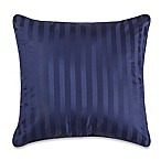 Wamsutta® 500-Thread-Count PimaCott® Damask Stripe European Throw Pillow in Navy