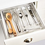 InterDesign® Linus Acrylic Expandable Cutlery Tray