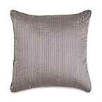 Wamsutta® 500-Thread-Count PimaCott® Damask Stripe Square Throw Pillow in Grey