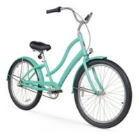 "Firmstrong Women's CA-520 26"" Three Speed Beach Cruiser Bicycle in Mint Green"