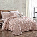 Brooklyn Loom Jackson Pleat Full/Queen Comforter Set in Blush