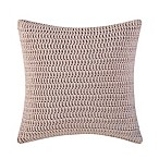 Brooklyn Loom Jackson Pleat Square Throw Pillow in Blush
