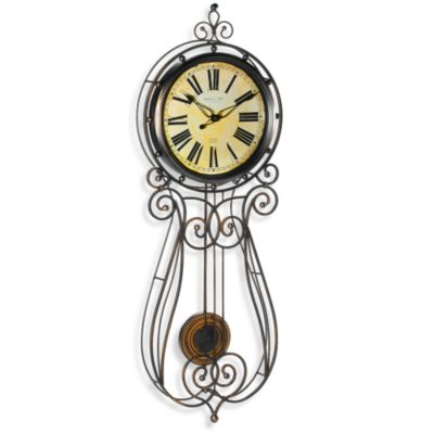 Sterling Noble Wrought Iron 32Inch Regulator Clock Bed Bath