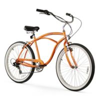 "Firmstrong Urban Man 26"" Seven Speed Beach Cruiser Bicycle in Orange"
