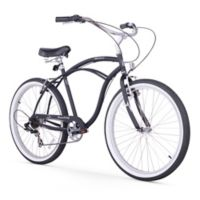 "Firmstrong Urban Man 26"" Seven Speed Beach Cruiser Bicycle in Matte Black"