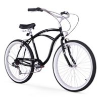 "Firmstrong Urban Man 26"" Seven Speed Beach Cruiser Bicycle in Black"