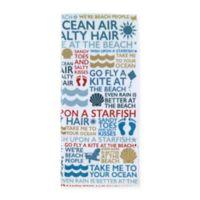 Beach Words Printed Kitchen Towel