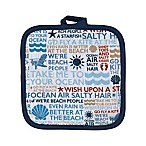 Beach Words Pot Holder