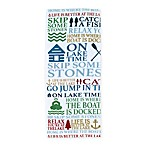 Avanti Lake Words Kitchen Towel