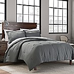 Garment Washed Solid Full/Queen Comforter Set in Grey