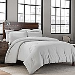 Garment Washed Solid King Comforter Set in Silver
