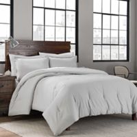 Garment Washed Solid 3-Piece Mini King Comforter Set in Silver