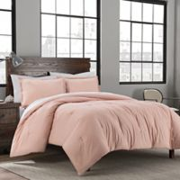Garment Washed Solid 3-Piece Mini King Comforter Set in Blush