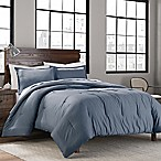 Garment Washed Solid Twin/Twin XL Comforter Set in Denim