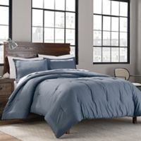 Garment Washed Solid 2-Piece Mini Twin/Twin XL Comforter Set in Denim