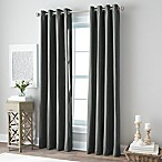 Botanical 84-Inch Grommet Top Window Curtain Panel in Graphite