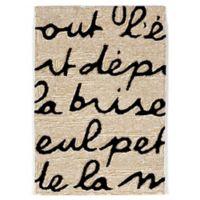 Liorra Manne Spello Poem 2-Foot x 3-Foot Indoor/Outdoor Accent Rug in Black
