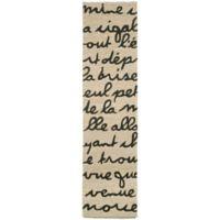 Liorra Manne Spello Poem 2-Foot x 8-Foot Indoor/Outdoor Runner in Black