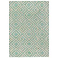 Liorra Manne Wooster Kuba 7-Foot 6-Inch x 9-Foot 6-Inch Indoor/Outdoor Area Rug in Aqua
