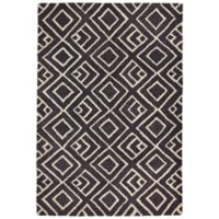 Liorra Manne Wooster Kuba 8-Foot 3-Inch x 11-Foot 6-Inch Indoor/Outdoor Area Rug in Charcoal