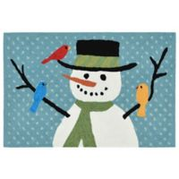 Liora Manne Frontporch Snowman and Friends 2-Foot 6-Inch x 4-Foot Indoor/Outdoor Mat