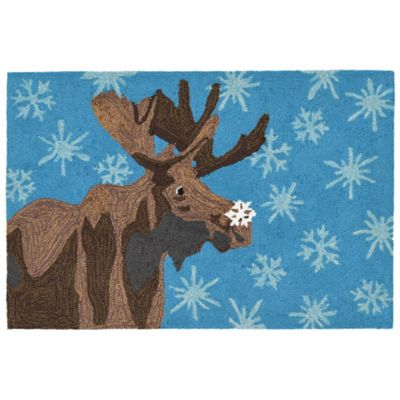 Good Liora Manne Frontporch Moose U0026 Snowflake 1 Foot 8 Inch X 2 Foot