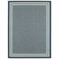 Balta US Border Stripe 9-Foot x 12-Foot Indoor/Outdoor Area Rug in Blue