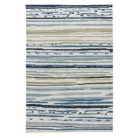 Jaipur Sketchy Lines 9-Foot x 12-Foot Indoor/Outdoor Area Rug in Green/Blue