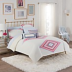 Cupcakes and Cashmere Engineered Kilim Twin/Twin XL Comforter Set in White/Pink
