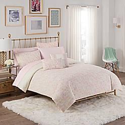 shop amazing cora set queen floral full on comforter deal sets pink