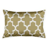 Geo Quatrefoil King Pillow Sham in White/Gold