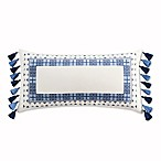Cupcakes and Cashmere Framed Oblong Throw Pillow in Blue/White