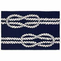 Liora Manne Capri Ropes 20-Inch x 30-Inch Indoor/Outdoor Door Mat in Navy