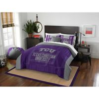 Texas Christian University Modern Take Full/Queen Comforter Set