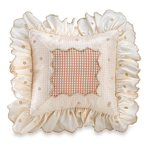 Glenna Jean Madison Dot Square Toss Pillow in Pink